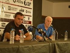 Diego Osella (i) explicó cómo le está pasando factura la situación del equipo. Twitter/ColonOficial