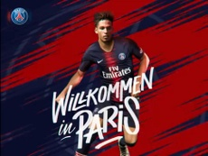 Kherer rejoint le PSG. Twitter/PSG