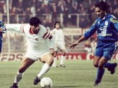 Maradona solo duró una campaña en el conjunto hispalense. SevillaFC