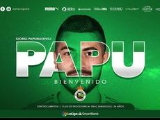 Papunashvili jugará en el Racing. Twitter/RealRacingClub