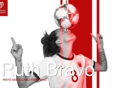 Ruth Bravo jugará en el Rayo. Twitter/RayoFemenino