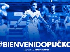 El Real Oviedo ficha al extremo esloveno Matej Pucko. RealOviedo