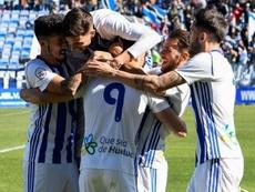 El Recre endosó cinco tantos al UCAM Murcia. RecreativodeHuelva