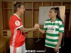 El Benfica y el Sporting Femenino están listos para un partido histórico. Captura/SLBenfica