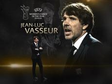 Jean-Luc Vasseur, mejor entrenador de la 19-20 del fútbol femenino. UEFA