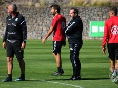 Sesé Rivero ha dado su primera convocatoria como entrenador del Tenerife. ClubDeportivoTenerife