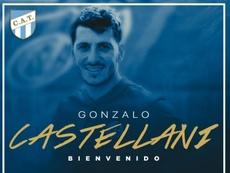 Castellani ya firmó su contrato con Atlético Tucumán. Twitter/AtléticoTucumánOf.