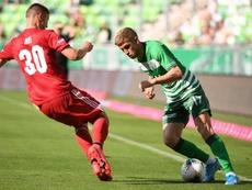 Un gol del portero en propia pone en bandeja el título al Ferencvaros. Twitter/Fradi_HU