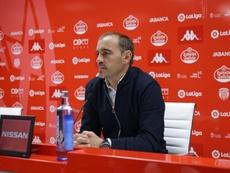 Jiménez espera un Sporting aguerrido. Twitter/CDeportivoLugo