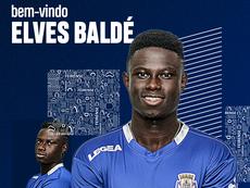 Elves Baldé, cedido al Feirense. Twitter/Feirense