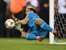Martínez, contento por la oportunidad de Emery. Twitter/Arsenal
