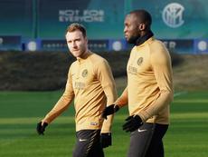 Eriksen ya se entrena con el Inter. Inter
