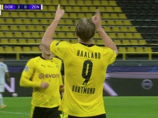 Dos partidos, dos goles: Haaland y su romance con la Champions. Captura/MovistarLigadeCampeones
