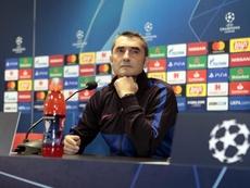 La conf. de presse de Valverde. Twitter/FCBarcelona_es