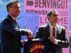 Bartomeu reveló que Valverde podría dejar el Barça en primavera si las partes lo acuerdan. EFE