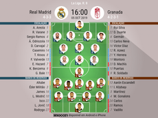 Real Madrid x Granada. BeSoccer