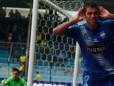 Escalada celebra un gol con Emelec. Twitter