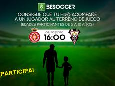 Consigue que tu hij@ acompañe a un jugador del Girona ante el Albacete. BeSoccer