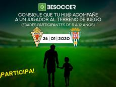 Consigue que tu hij@ acompañe a un jugador del Real Murcia-Córdoba. BeSoccer
