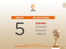 España ya tiene grupo. SeFútbol/Twitter
