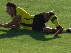 Espeluznante lesión de Dario Scuderi, juvenil del Borussia de Dortmund. LaMinuteFootball