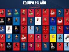 Esta es la lista de 50 nominados al mejor once de 2020. UEFA