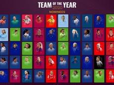 Esta es la lista de 50 nominadas al mejor once femenino de 2020. UEFA