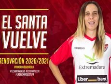 Amplió un año más su contrato. Twitter/SantaBadajoz