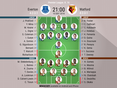 Everton v Watford confirmed lineups. BeSoccer