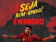 Ewandro llega a Sport Recife. Twitter/sportrecife