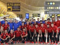 La Selección AFE viajó a Polonia. AFEFutbol