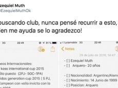 Ex-jogador do River usa o Twitter para buscar nova equipe. Twitter/ezequielmuthok