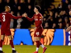 Un tercera se sube a las barbas al Liverpool. LFC