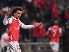 Foi graças a um golo de Fábio Martins que os minhotos conseguiram os três pontos. Twitter/SCBraga