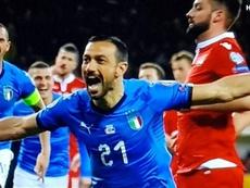Record Quaglia e l'Italia travolge il Liechtenstein. Captura/RAI1HD