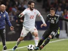Bustos reveló un incidente sin importancia con Messi. EFE