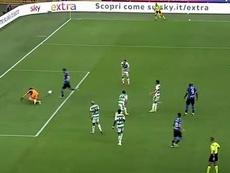 El gol fallado más claro de la historia. Captura/Movistar+