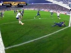 Borroso tuvo un fallo casi imperdonable. Captura/FOXSports