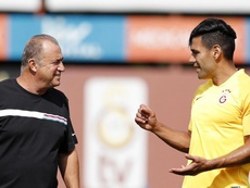 Fatih Terim, pesimista con Falcao. Twitter/GalatasaraySK