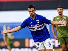 Bonazzoli sumó un doblete para su equipo. Twitter/sampdoria_en