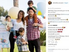 Messi recibió su felicitación por el Día del Padre. Instagram @Antonella_Roccuzzo