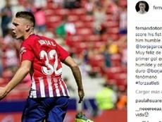 Torres felicitó a Borja Garcés. Instagram/FernandoTorres