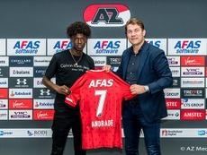 Félix Correia, nuevo jugador del AZ Alkmaar. Twitter/AZAlkmaar