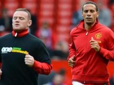 La broma de Ferdinand a Rooney tras su retirada del fútbol. AFP
