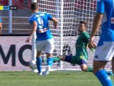 Llorente scored his second goal in five days. Captura/RaiItalia
