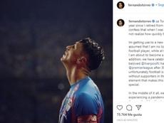 Fernando Torres repasó el primer año vivido tras anunciar su retirada. Instagram/FernandoTorres