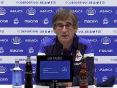 Fernando Vázquez habló tras la derrota. Captura/RCDeportivo