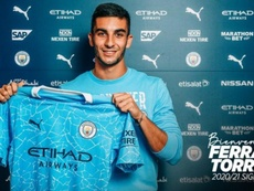Ferran Torres has not got off to the best of starts at Man City. Twitter/ManCity