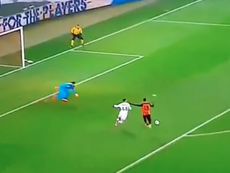 Ferreyra marcou o gol do empate entre Shakhtar e Roma.Captura/beINSports