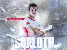 El noruego Sorloth, nuevo jugador del RB Leipzig. Twitter/DieRotenBullen